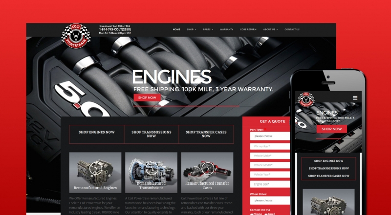 Colt Powertrain Website