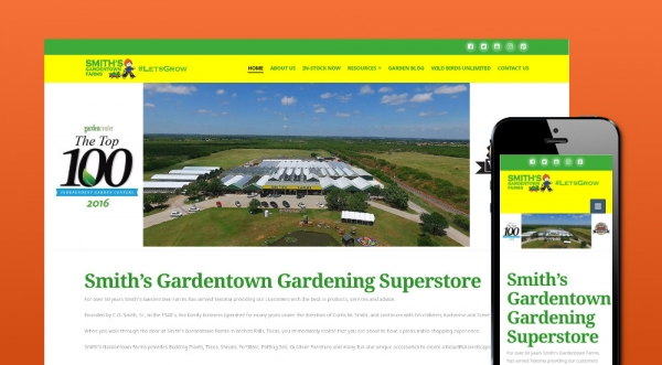 Smiths Gardentown Website
